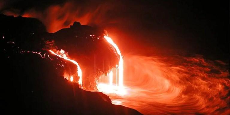 Los ríos y cascadas de lava de los volcanes de Hawaii, la furia del Kilauea