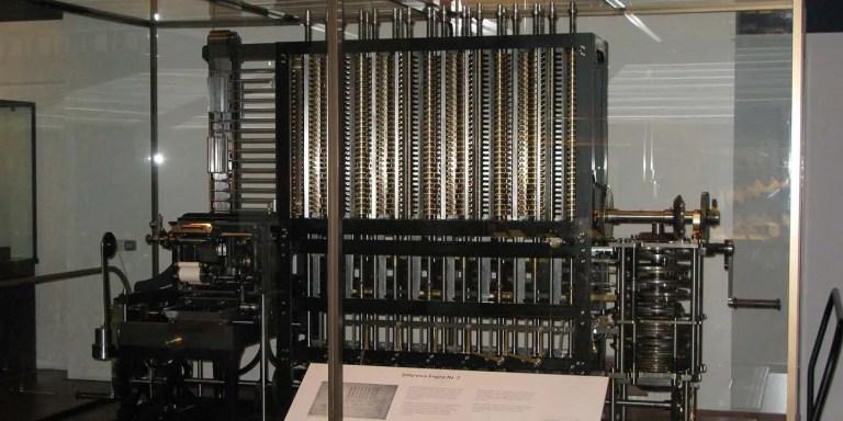 La Maquina diferencial de Charles Babbage, para la cual se confeccionó el primer programa informático.