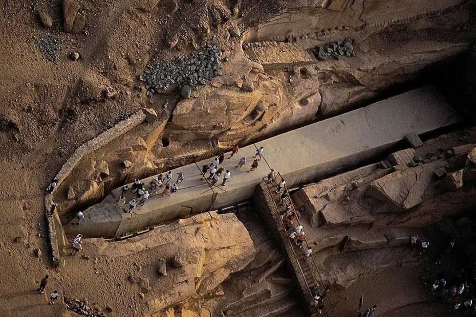 El obelisco de Asuán, el más grande de todos los obeliscos egipcios.