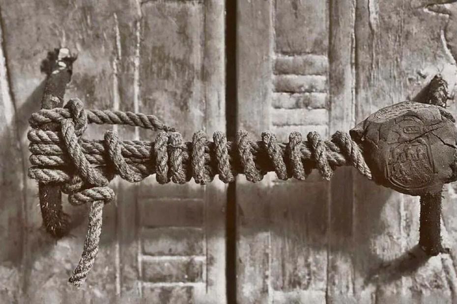 Sello de la tumba del faraón Tutankamón.