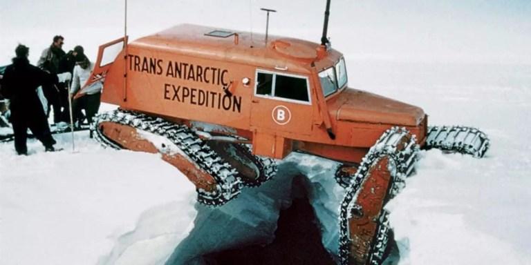 Sno-cats los vehículos capaces de cruzar por tierra la Antártida