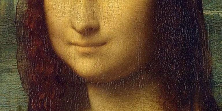 Sonrisa de la Mona Lisa, la obra maestra del gran pintor renacentista Leonardo da Vinci.