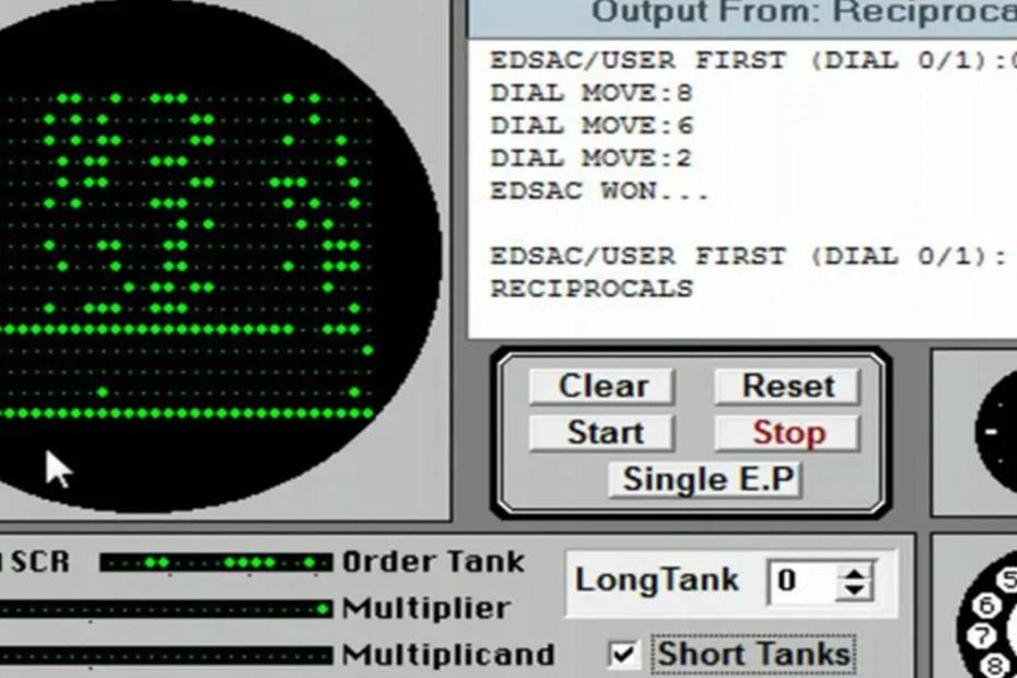 Tic Tac Toe para el EDSAC, el primer vídeo juego de la Historia.
