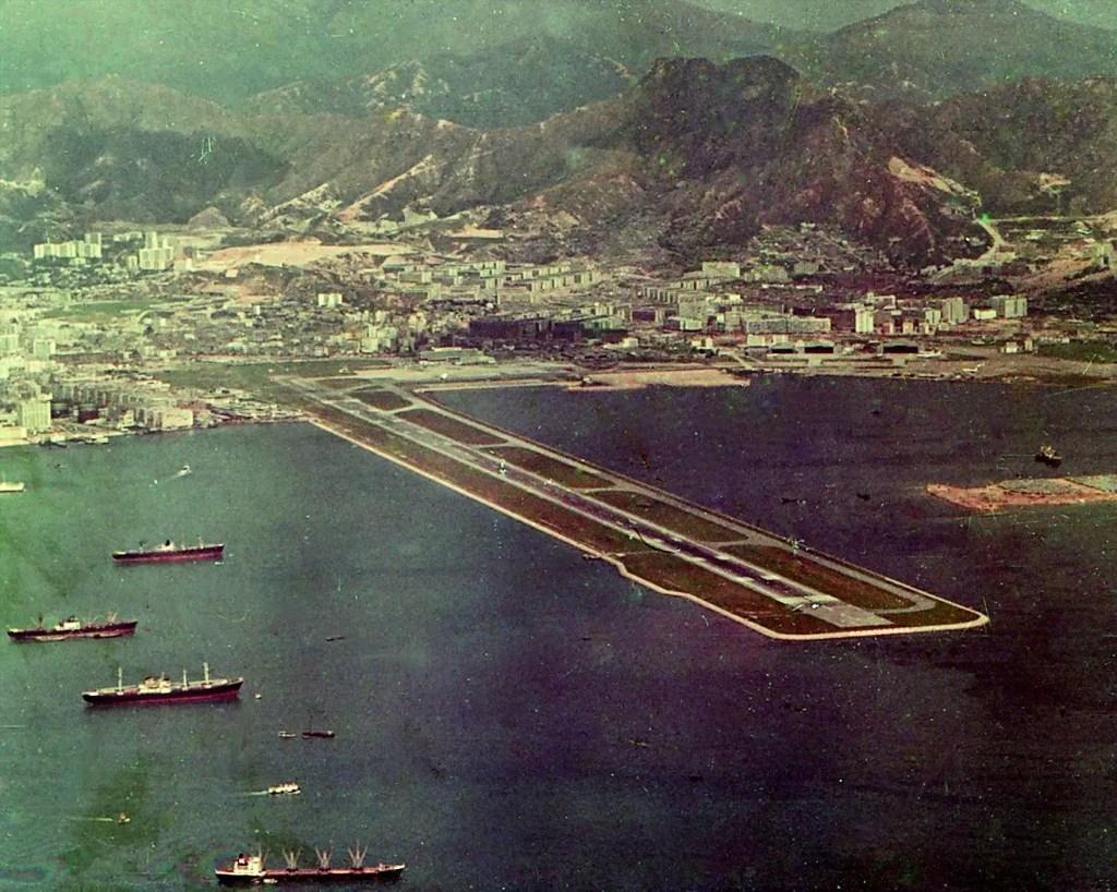 Pista del aeropuerto internacional de Kai Tak.