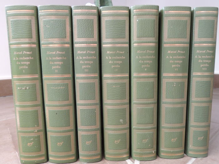 Los siete volúmenes de En busca del tiempo perdido, de Marcel Proust.