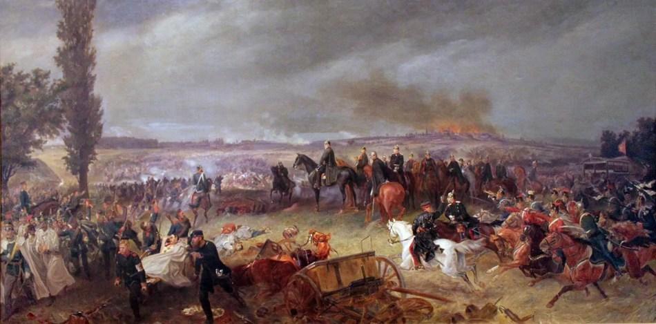 Pintura sobre la batalla de Königgrätz.