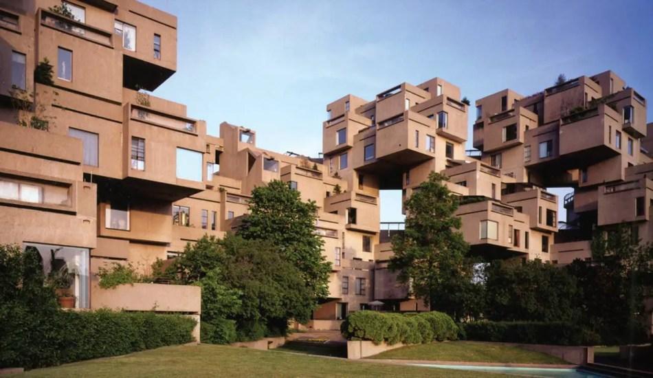 Habitat 67, un ejemplo de la corriente arquitectónica del metabolismo.