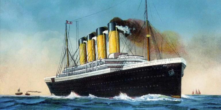 Ilustración del RMS Titanic.