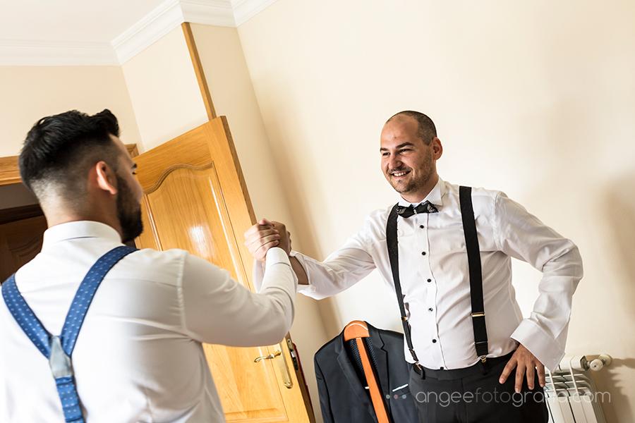 Preparativos del novio Boda Raquel y Jorge angeefotografía