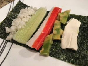 How I assemble my California Roll