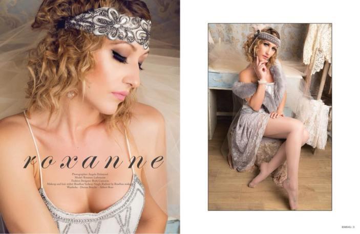 Bombshell magazine Roxee vintage flapper photo shoot Angela Holmyard