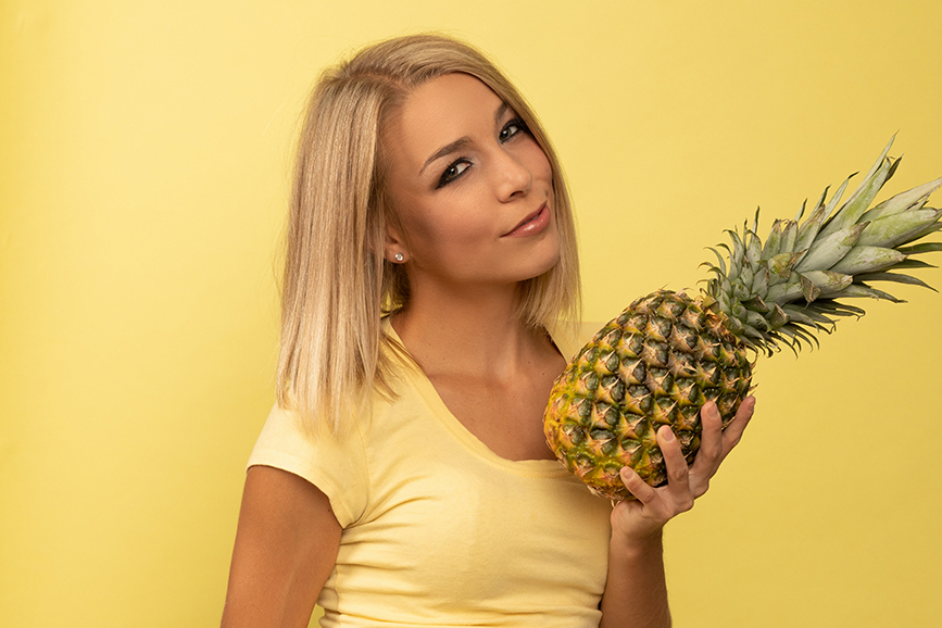 Pineapple and model