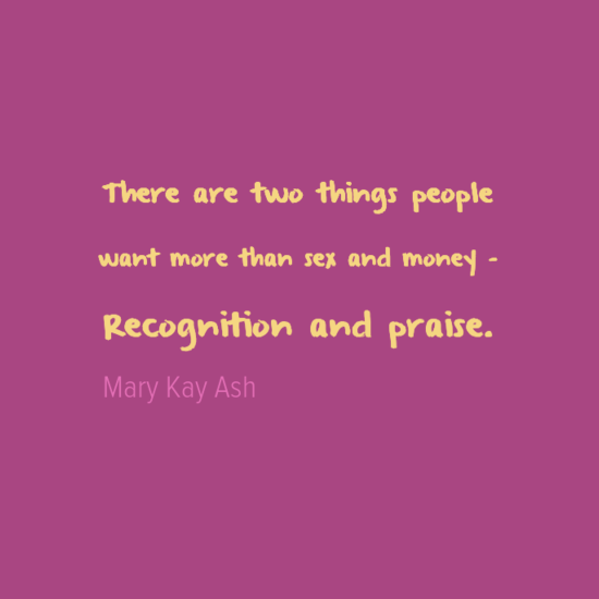 What stops people from giving recognition and praise?