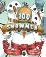 Book Cover Art for 100 SNOWMEN