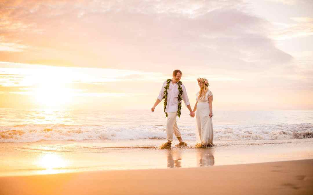 Beach Wedding in Wailea   Trevor + Reya