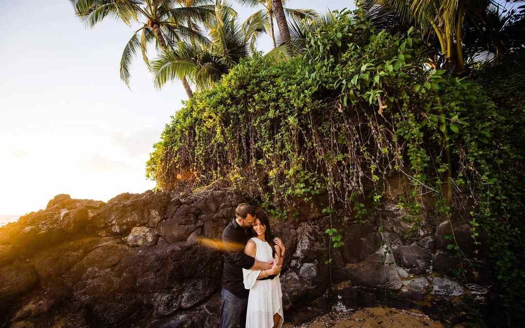 Wailea Beach Engagement Photography