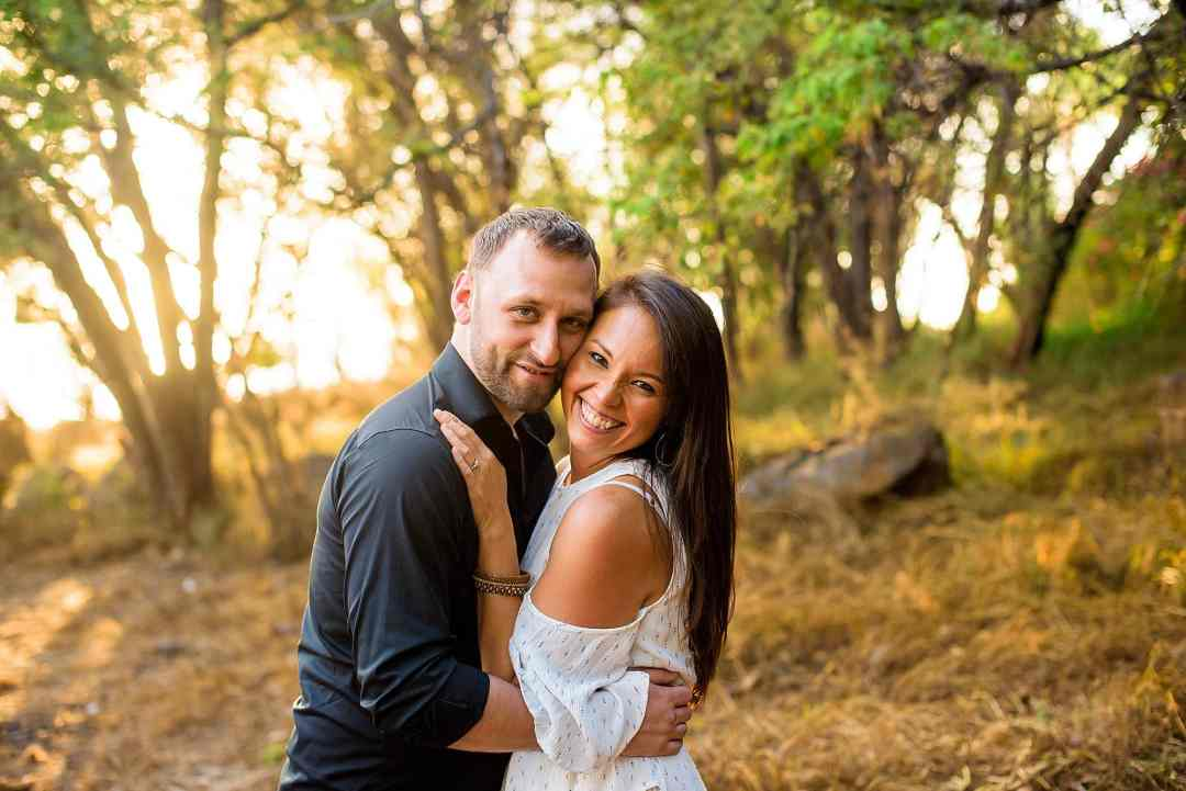 backlit couples portrait in maui, hawaii