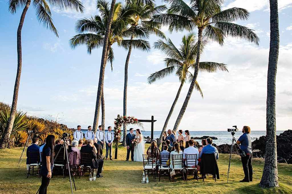 ceremony set up at white orchid beach house