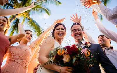 White Orchid Beach House Wedding in Maui