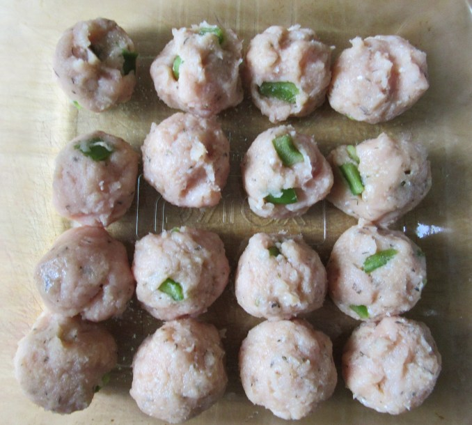 Turkey Meatballs Prepped