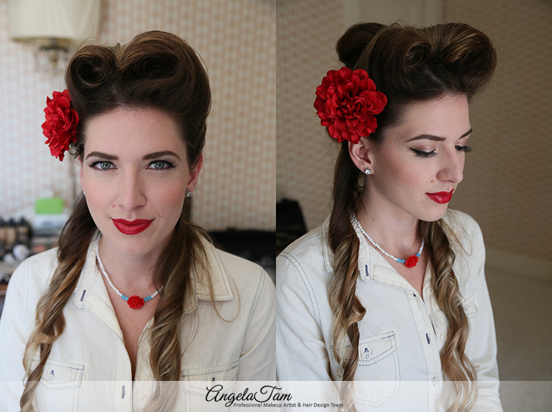 LOS ANGELES VICTORY ROLLS HAIR STYLE ROCKABILLY PINUP