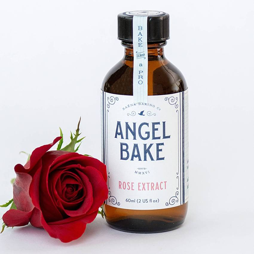 Bake like a pro with a pro with Angel Bake Rose Extract