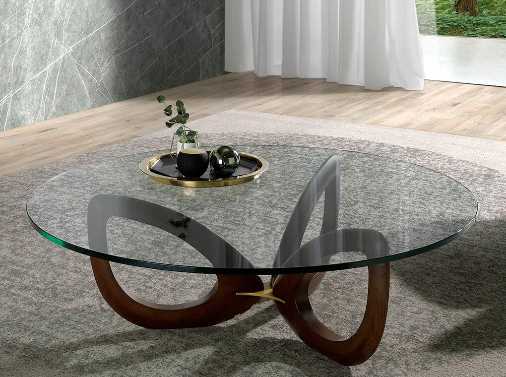 es mesa de centro fabricada en madera maciza de fresno en coffee table made of solid wood with glass tabletop fr table basse en frene massif