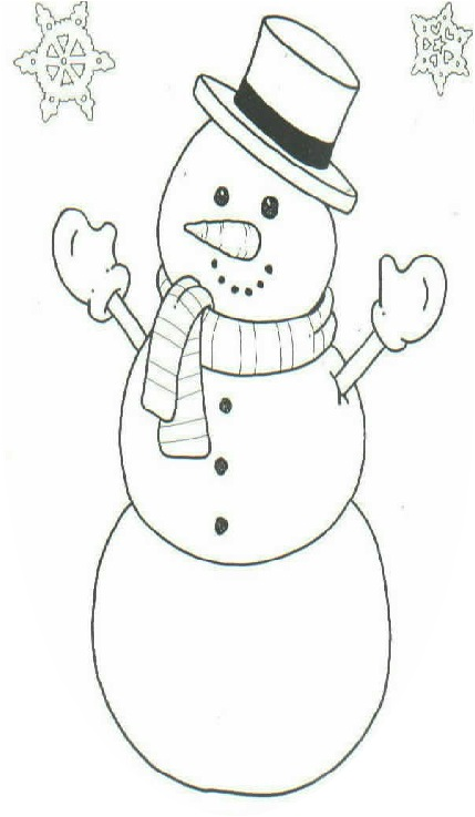 color the snowman a printable page from child 39 s play family daycare