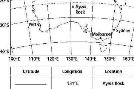 map of australia with latitude and longitude lines » Path ...