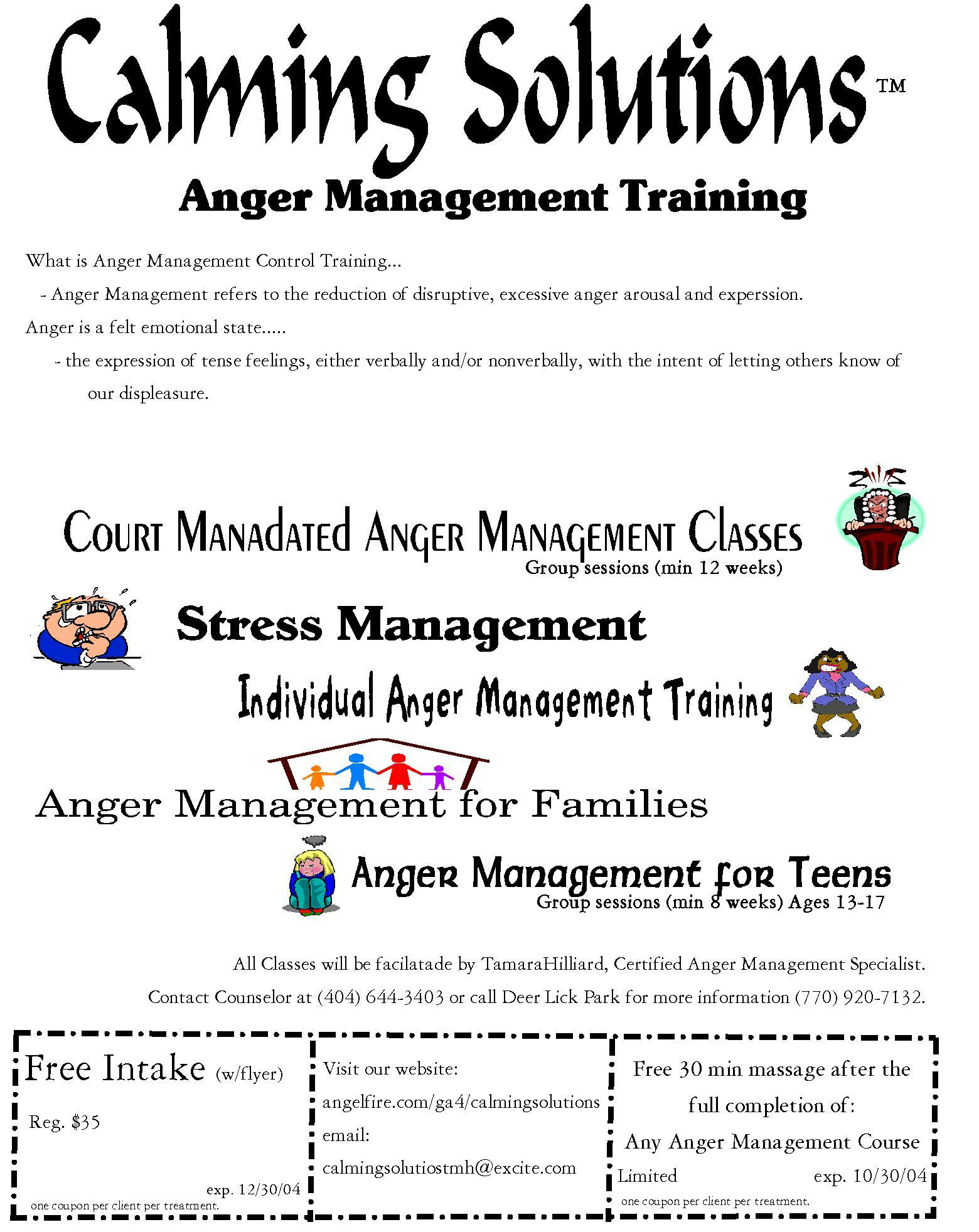 Calming Solutions Anger Management Skills Training Lithia