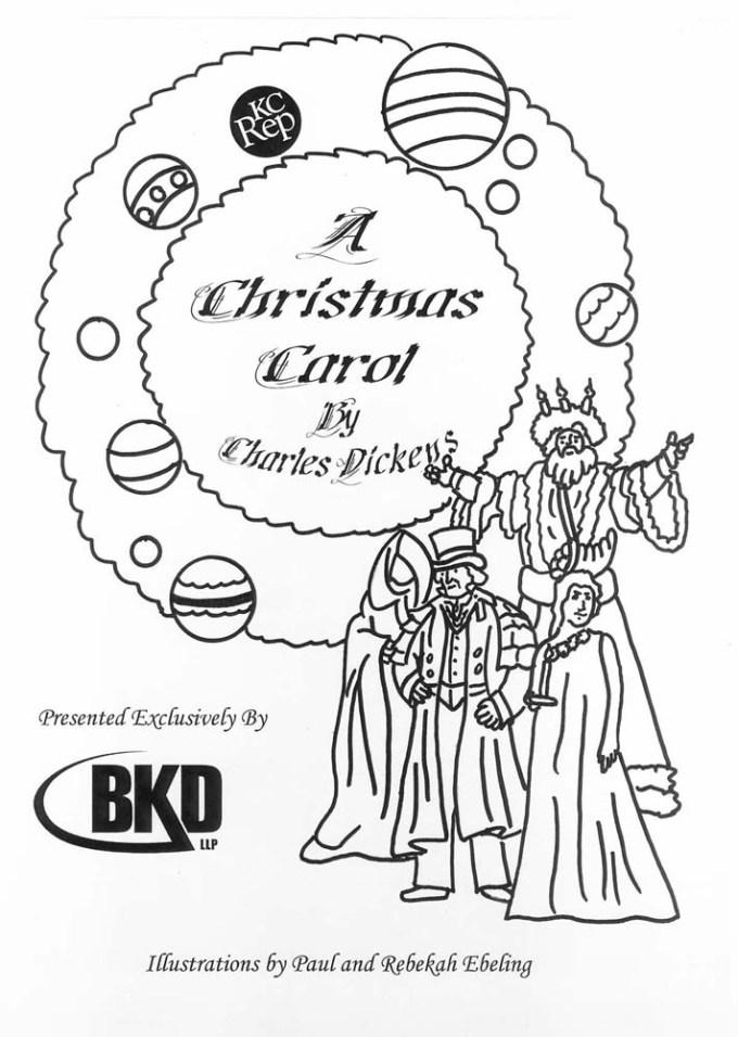 a christmas carol coloring book 2004