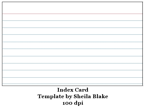 4x6 Index Card Template. blank 100ct. template index 4x6 index ...