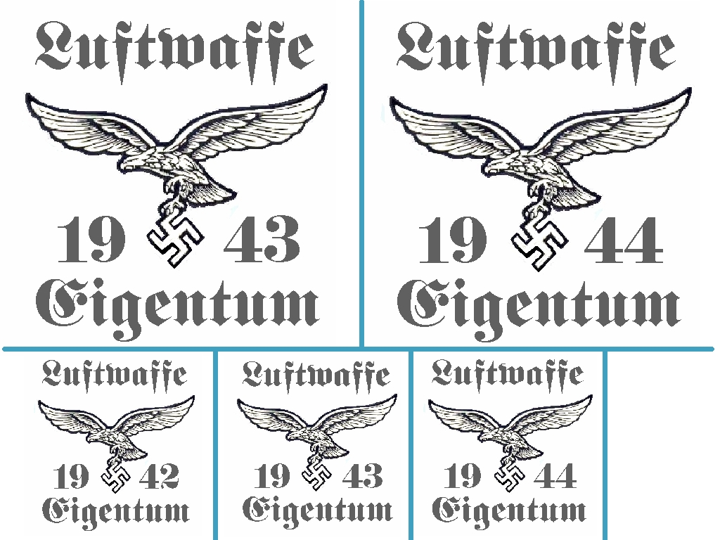 Repro German Crate Markings