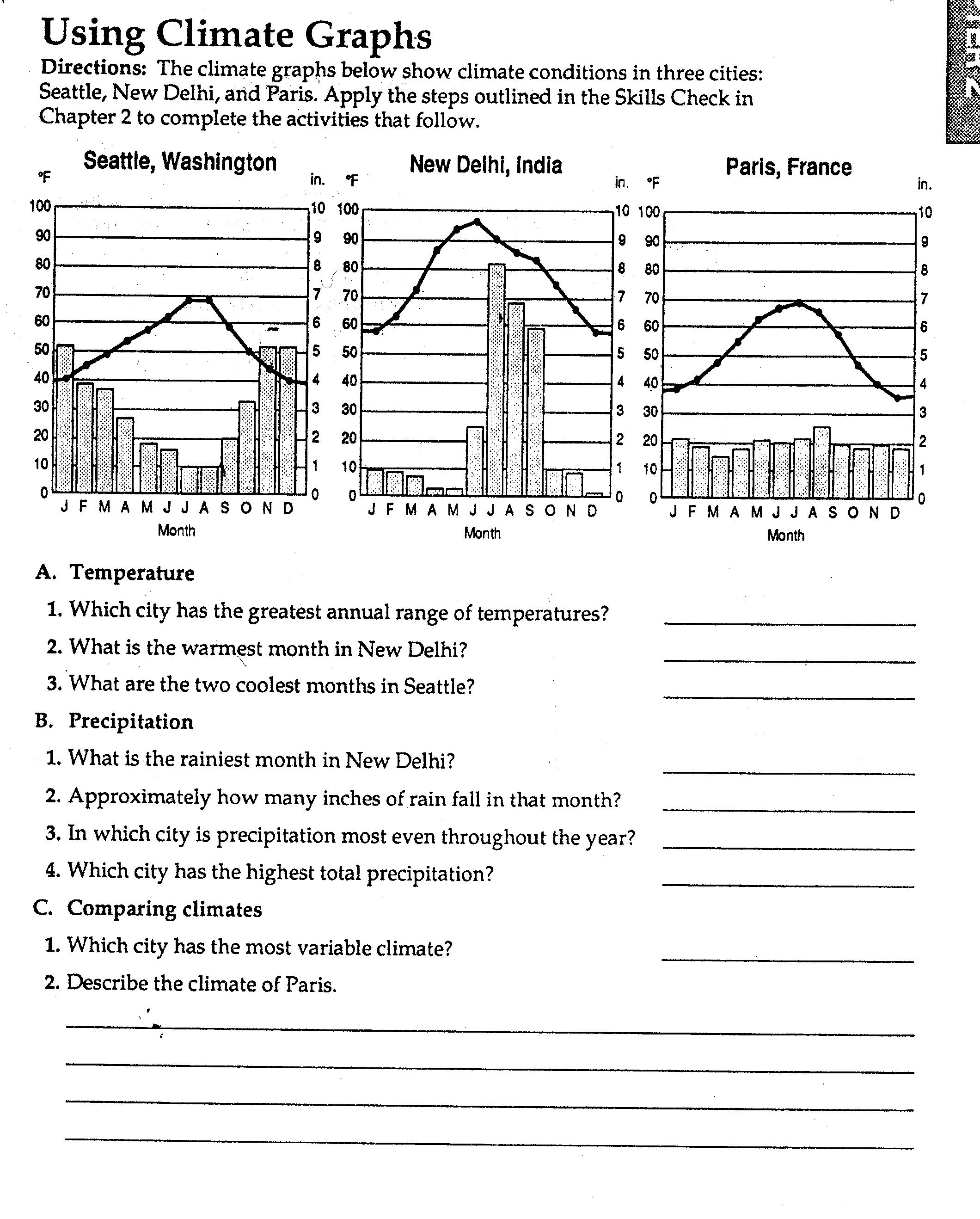 Climate Change Worksheet