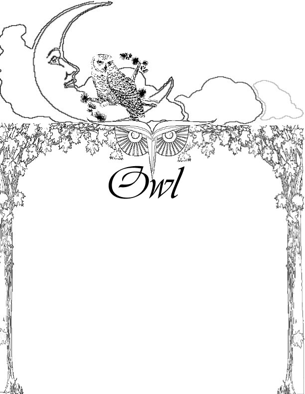 hard owl page colouring pages page 2