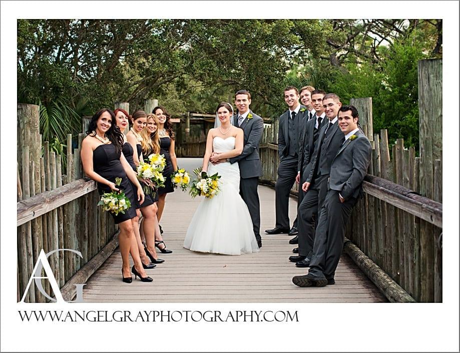 Brevard Zoo Wedding Janelle And Jason St Augustine
