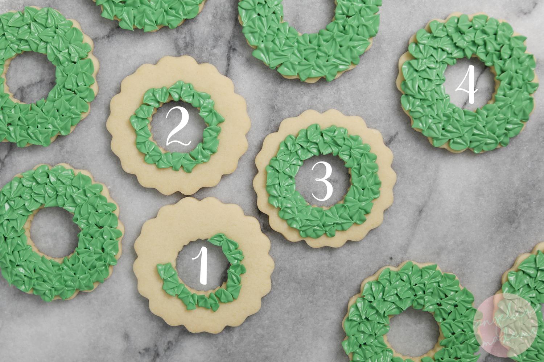 Royal Icing Christmas Cookies.Christmas Wreath Cookies Angelicamademe