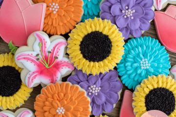 Mixed Flower Garden Party Cookies