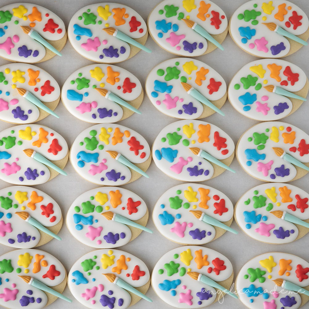 Paint Palette Cookies