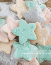 Pastel Star Cookies for a Baby Shower