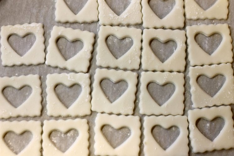 Ravioli Dough Hearts