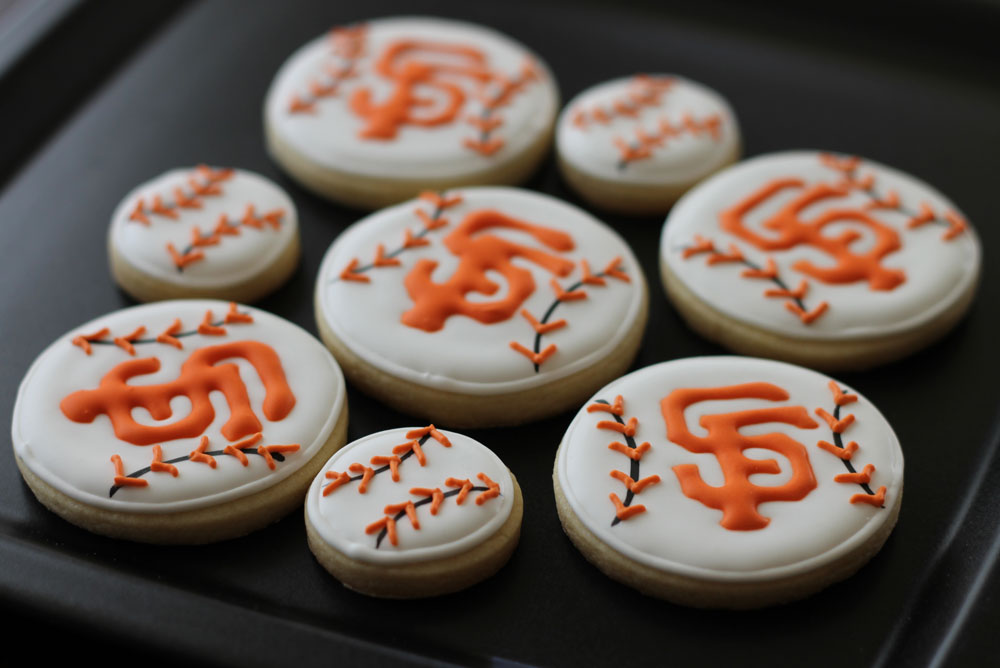 SF Giants Sugar Cookies