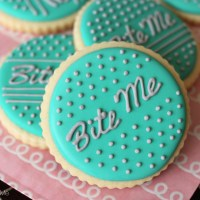Writing on Sugar Cookies (with Attitude)
