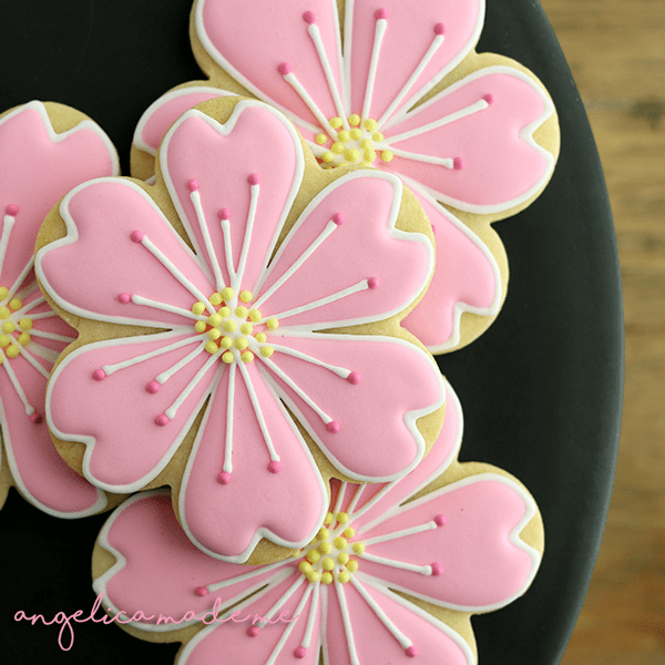 Custom Decorated Flower Cookies