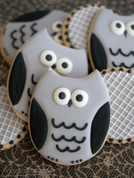 Halloween-Owl-Gray-Sugar-Cookies