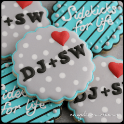 Sidekicks for Life Wedding Cookies