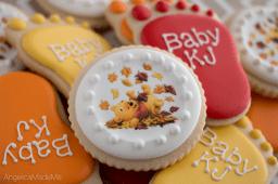 Winnie the Pooh Baby Shower Cookies