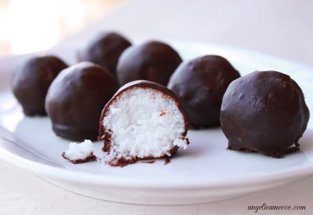 bounty vegan - cioccolatini ripieni al cocco