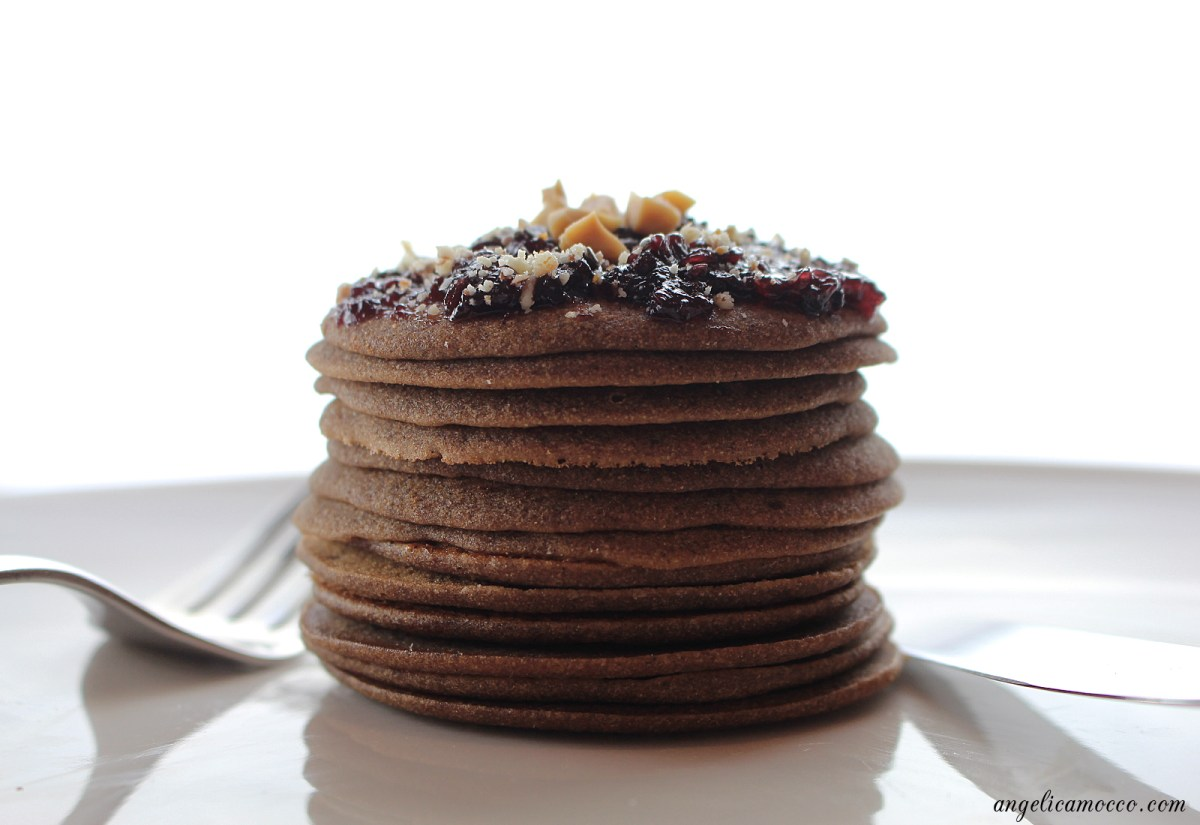 Pancake alla carruba senza glutine
