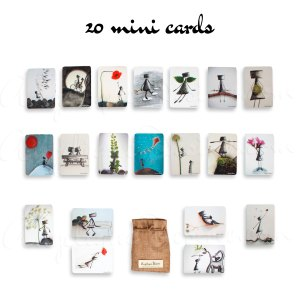 20 mini art card set